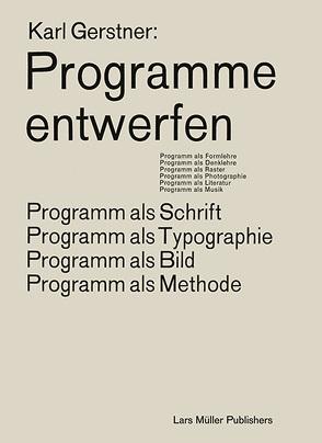 Programme entwerfen von Gerstner,  Karl