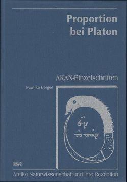 Proportion bei Platon von Berger,  Monika