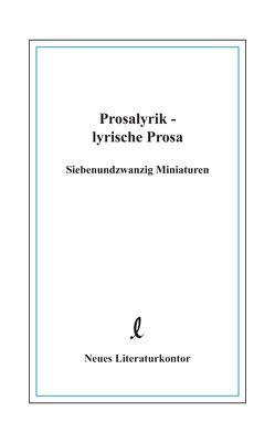 Prosalyrik – lyrische Prosa von Mummendey,  Dorothea, Mummendey,  Hans D