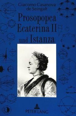 «Prosopopea Ecaterina II» und «Istanza» von Giacomo Casanova von Straub,  Enrico