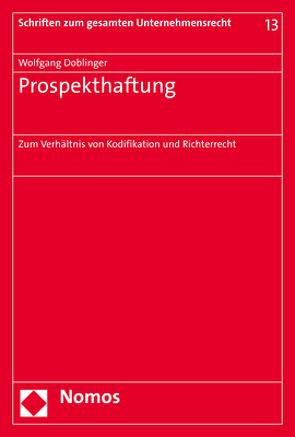 Prospekthaftung von Doblinger,  Wolfgang