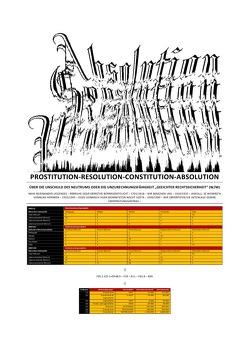 PROSTITUTION-RESOLUTION-CONSTITUTION-ABSOLUTION von Alt,  Atlas, Brinkmichel,  Carlus, Hansch,  Helmut, Kohl,  Telea, Visser,  Lit
