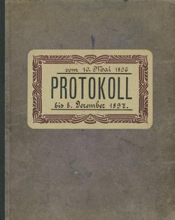 Protokollbuch FC Winterthur 1896/1897 von Jerzö,  Kai, Jerzovskaja,  -