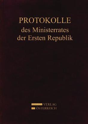 Protokolle des Ministerrates der Ersten Republik IX, Kabinett Dr. Kurt Schuschnigg von Enderle-Burcel,  Gertrude