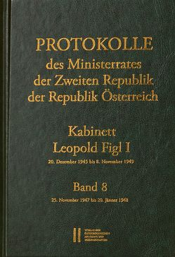 Protokolle des Ministerrates der Zweiten Republik, Kabinett Leopold Figl I von Enderle-Burcell,  Gertrude, Jerabek,  Rudolf, Mueller,  Wolfgang