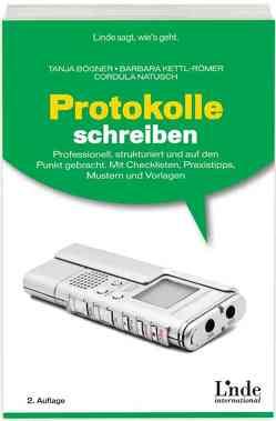 Protokolle schreiben von Boegner,  Tanja, Kettl-Römer,  Barbara, Natusch,  Cordula