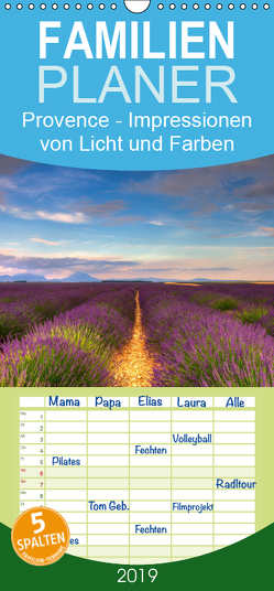 Provence – Impressionen von Licht und Farben – Familienplaner hoch (Wandkalender 2019 , 21 cm x 45 cm, hoch) von Schonnop,  Juergen