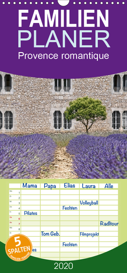 Provence romantique – Familienplaner hoch (Wandkalender 2020 , 21 cm x 45 cm, hoch) von / Joachim G. Pinkawa,  Jo.PinX