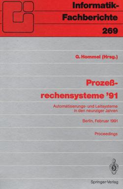 Prozeßrechensysteme '91 von Hommel,  Günter