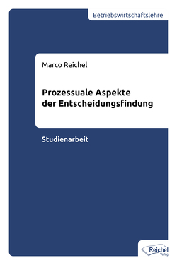Prozessuale Aspekte der Entscheidungsfindung von Reichel,  Marco