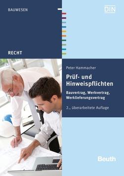 Prüf- und Hinweispflichten von Hammacher,  Peter