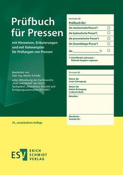 Prüfbuch für Pressen von Schulte,  Martin