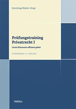 Prüfungstraining Privatrecht I von Geroldinger,  Andreas, Radler,  Moritz