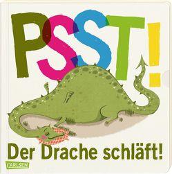 Psst! Der Drache schläft! (Gutenachtgeschichte mit Ausziehseiten) – Ab 2 Jahren von Große-Holtforth,  Isabel, Hasselmann,  Wiebke