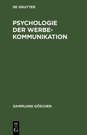 Psychologie der Werbekommunikation von Hoffmann,  Hans Joachim