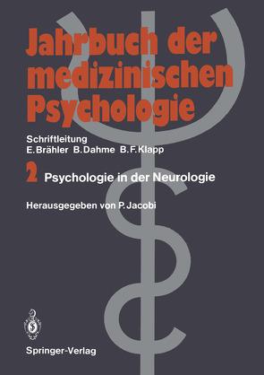 Psychologie in der Neurologie von Jacobi,  Peter