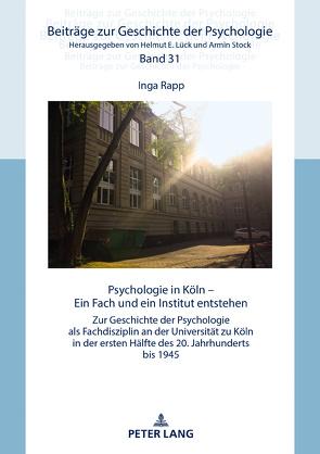 Psychologie in Köln von Rapp,  Inga