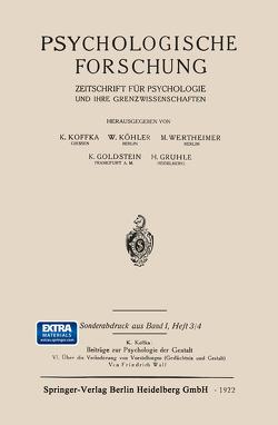 Psychologische Forschung von Wulf,  Friedrich