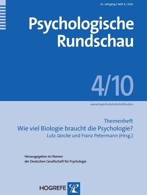Psychologische Rundschau von Jäncke,  Lutz, Petermann,  Franz