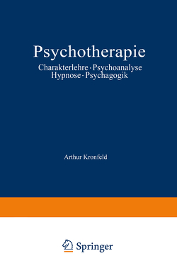Psychotherapie von Kronfeld,  Arthur