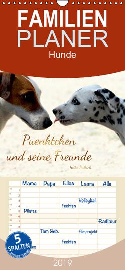 Pünktchen und seine Freunde – Familienplaner hoch (Wandkalender 2019 , 21 cm x 45 cm, hoch) von Hultsch,  Heike