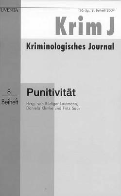 Punitivität von Klimke,  Daniela, Lautmann,  Rüdiger, Sack,  Fritz