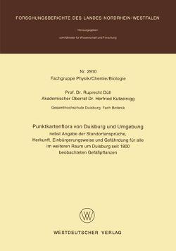 Punktkartenflora von Duisburg und Umgebung von Duell,  Ruprecht