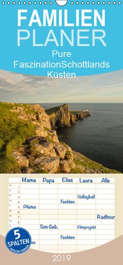 Pure Faszination – Schottlands Küsten – Familienplaner hoch (Wandkalender 2019 , 21 cm x 45 cm, hoch) von Potratz,  Andrea