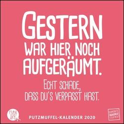 Putzmuffel-Kalender 2020 – Witzige Sprüche von FUNI SMART ART– Quadrat-Format – 12 Monatsblätter mit typografisch gestalteten Sprüchen von DUMONT Kalenderverlag, FUNI SMART ART