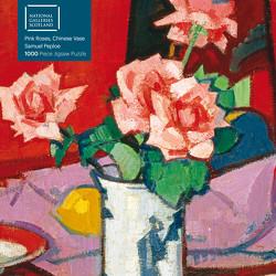 Puzzle – Samuel Peploe, Pinkfarbene Rosen in einer chinesischen Vase