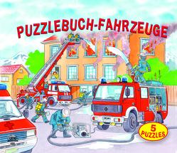 Puzzlebuch Fahrzeuge 5 Puzzles (12 teilig) mit gereimten Texten von Fischer,  J., R. d.,  Clerk