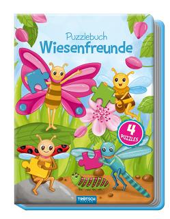 Puzzlebuch Wiesenfreunde, Kinderbuch, Tiere, Tierbuch von Angelmahr,  Anja