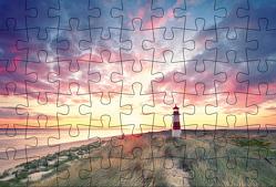 Puzzlepostkarte Sylt