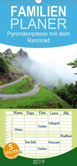 Pyrenäenpässe mit dem Rennrad 2019 – Familienplaner hoch (Wandkalender 2019 <strong>21 cm x 45 cm</strong> hoch) von Rotter,  Matthias