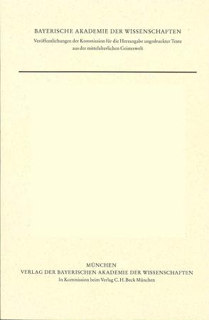 Quaestiones in quattuor libros Sententiarum, Appendix: Tabula ordine alphabeti contexta (cod. Worcester F 43) von Haverling,  Gerd, Kilwardby,  Robert