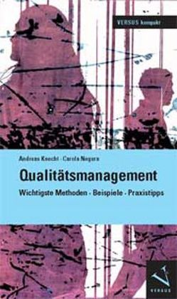Qualitätsmanagement von Knecht,  Andreas, Negura,  Carola