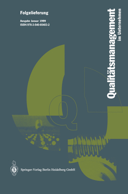 Qualitätsmanagement im Unternehmen von Hansen,  Wolfgang, Kamiske,  Gerd F.