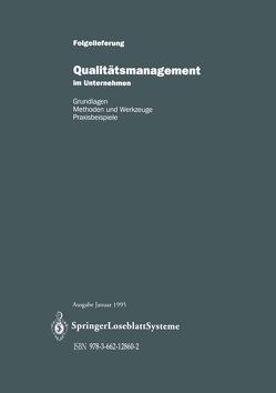 Qualitätsmanagement im Unternehmen von Boss-Teichmann,  C., Hansen,  W., Jansen,  H.H., Kamiske,  G.F.