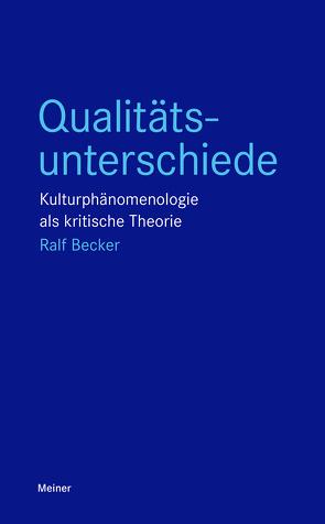 Qualitätsunterschiede von Becker,  Ralf