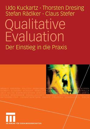 Qualitative Evaluation von Dresing,  Thorsten, Kuckartz,  Udo, Rädiker,  Stefan, Stefer,  Claus