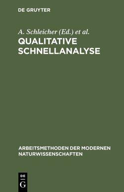 Qualitative Schnellanalyse von Bézier,  D., Charlot,  Gaston, Gauguin,  R., Odekerken,  J. M., Schleicher,  A.