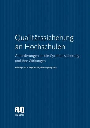Qualitätssicherung an Hochschulen von AQ Austria – Agency for Quality Assurance and Accreditation Austria