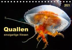 Quallen – einzigartige Wesen (Tischkalender 2021 DIN A5 quer) von Roder,  Peter