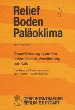 Quantifizierung quartärer subtropischer Verwitterung auf Kalk von Burger,  Dieter