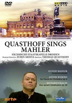 Quasthoff sings Mahler von Mahler,  Gustav, Mehta,  Zubin, Quasthoff,  Thomas, Strauss,  Richard, Webern,  Anton