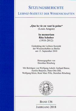 """""""que la vie en vaut la peine"""" von Ashold,  Wolfgang, Barjonet,  Aurélie, Röseberg,  Dorothee"""