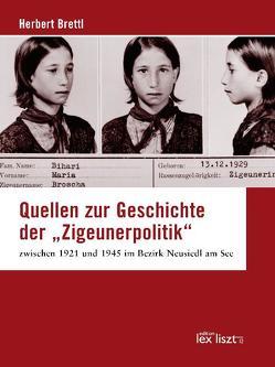 """Quellen zur Geschichte der """"Zigeunerpolitik"""" zwischen 1921 und 1945 im Bezirk Neusiedl am See von Brettl,  Herbert"""