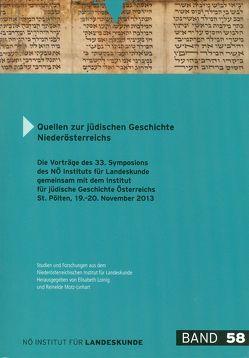 Quellen zur jüdischen Geschichte Niederösterreichs von Keil,  Martha, Loinig,  Elisabeth, Motz-Linhart,  Reinelde