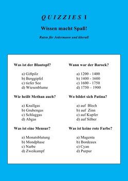 Quizzies I von Wegner,  Jennifer