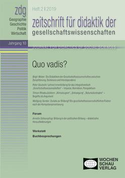 Quo vadis von Gautschi,  Peter, Rhode-Jüchtern,  Tilman, Sander,  Wolfgang, Weber,  Birgit